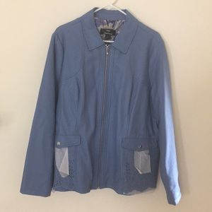 Dennis Basso/ Faux Lazer Cut Jacket. XL NWOT